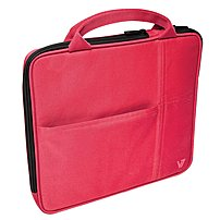 V7 Slim Ta20red-1n Sleeve Case With Pockets For Apple Ipad (3rd Generation), Ipad 1, Ipad 2 - Red