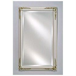 Afina Corporation EC13-2430-WT 24 in.x 30 in.Estate Distinctive Framed Wall Mirror - Antique White