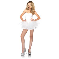 Corset Tutu Dress With Support Boning And Removable Straps
