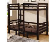 Cappuccino Finish Twin/twin Convertible Loft Bed