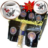 cgb_13218_1 R McDowell Graphics Funny Animals - Cat Scan - Coffee Gift Baskets - Coffee Gift Basket