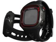 Garmin Forerunner 10 Large Face Fitness Computer: Black/red