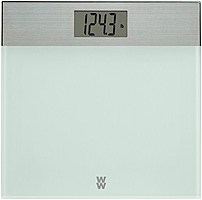 Conair 074108339195 Weight Watchers Decorative Glass/stainless Scale - White