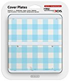 Nintendo 3DS Coverplate Blau-Weiß kariert