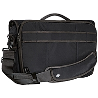 "Timbuk2 Commute Carrying Case (messenger) For Notebook, Pen, Accessories, Lunch, Smartphone, Badge, Mouse, Cable - Jet Black - 400d Nylon - Carrying Strap - 13.4"" Height X 18.5"" Width X 7.9"" Depth 208-4-6114"
