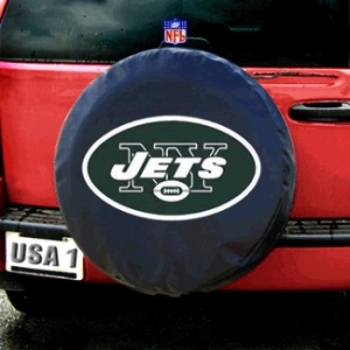 New York Jets NFL Spare Tire Cover (Black)