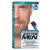 Just For Men Mustache and Beard Brush-In Color Gel, Blond (Pack of 3)