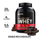 Optimum Nutrition Gold Standard 100% Whey Protein Powder, Double Rich Chocolate, 5 Pound (Packaging May Vary)