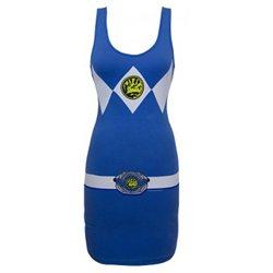 Mighty Morphin Power Rangers Blue Mighty Fine Juniors Tunic Tank Dress