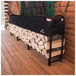 ShelterLogic Covered Firewood Rack - 12 ft. - 46.6 x 15.5 x 11.9 ft - Steel - Black