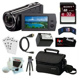 Sony HDR-CX290 8GB Embedded Memory HD Handycam Camcorder   32GB Accessory Kit
