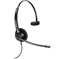 Plantronics Customer Service Headset - Mono - Usb - Wired - Over-the-head - Monaural - Supra-aural - Noise Canceling 203191-01