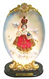 8.4 Inch Infant of Prague Statue with Light Religious Decorative Light Nino Prague Lamp