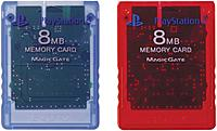 Sony 711719706700 Playstation 2 8 Mb Memory Card - 2 Pack, Red/blue