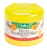 Safer Deluxe Jacket Wasp Trap with Bait, Yellow
