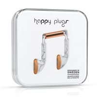 Happy Plugs Earbuds - White Marble By Happy Plugs
