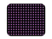Purple on Black Polka Dots Mousepad Mouse Pad
