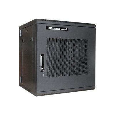 Startech.com Rk1219walhm 12u 19 Hinged Wall Mount Server Rack Cabinet - Black Wall Mount Server Rack With Steel Mesh Door - Hinged Design