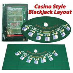 Blackjack Layout 36 x 72 inch