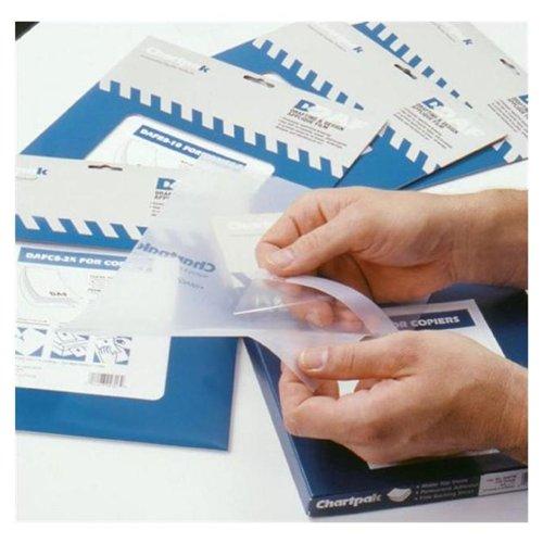 Chartpak Self-Adhesive Drafting Applique Film, 8-1/2 x 11, Clear, 100/Box