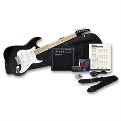 Silvertone SS10 Citation Guitar and Amp Package - Liquid Black