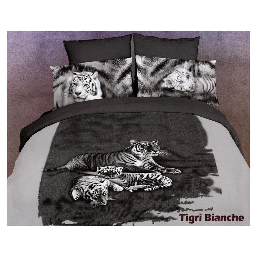 Duvet Cover Set Tigri_Bianche, Bed in Bag, Dolce Mela King DM41OK