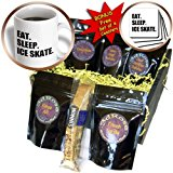 cgb_180412_1 InspirationzStore Eat Sleep series - Eat Sleep Ice skate - skater gifts for skating enthusiast - black text - Coffee Gift Baskets - Coffee Gift Basket