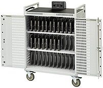 P The Bretford 36 Unit Intelligent Cart vertically stores, charges and protects up to 36 netbook, Chromebook or ultrabook computers