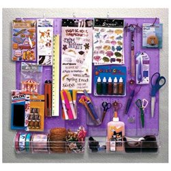 70-Pc Purple Plastic Pegboard Organizer Kit