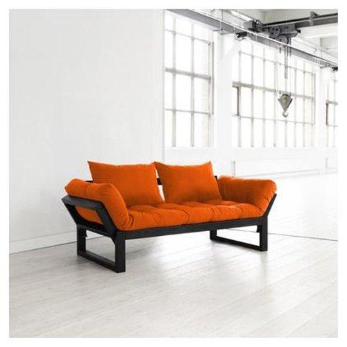 Fresh Futon Edge with Black Frame in Orange