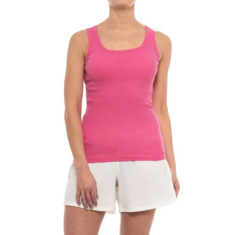 Stretch Rib Tank Top - Cotton (for Women)