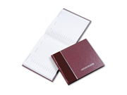 Visitor Register Book, Burgundy Hardcover, 128 Pages, 8 1/2 X 9 7/8 Type: Drawer Cabinets