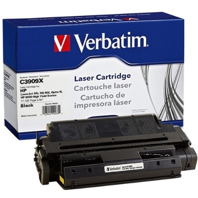 Verbatim 99233 Black - Remanufactured - Toner Cartridge (equivalent To: Hp C3909x) - For Hp Laserjet 5si  5si Mopier  5si Mx  5si Nx  8000  8000dn  8000mfp  800