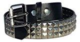 Dangerous Threads Black Studded Belt- 1 1/2