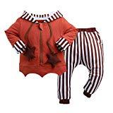 WisBiBi 2Pcs Boys Beaver Winter Hooded Coats Warming Outwear Clothes Sets