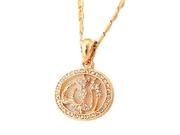 18k Gold Plated Rhinestone Cute Islamic Allah Pendant Charms Choker Necklace Religious Muslim Jewelry
