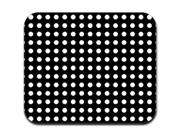 White on Black Polka Dots Mousepad Mouse Pad