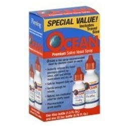 Ocean Saline Nasal Spray 2 pack, 2.26 oz