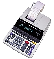 Deluxe, commercial quality two color ribbon printer with clock calendar feature and 4.8 lines per second printing