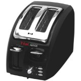 T-fal 874600 Classic Avante 2-Slice Toaster with Bagel Function, Black