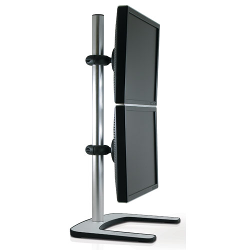 Atdec V-FS-DV VISIDEC Vertical Dual Monitor Desk Stand for 12 to 24 LCD Monitors