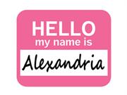Alexandria Hello My Name Is Mousepad Mouse Pad