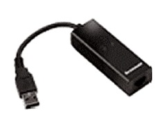 The Lenovo USB Modem offers easy access to the Internet using dial up service