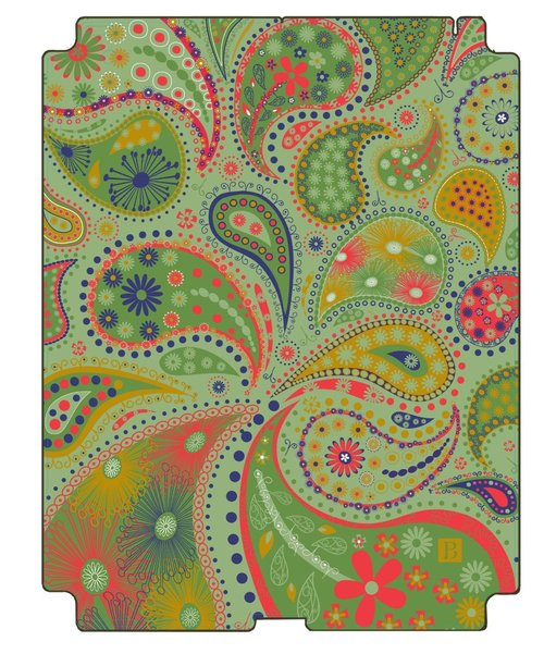 Pierre Belvedere 076880 Removable Skin For Apple Ipad 2 - Paisley