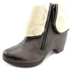 Jambu Peninsula Womens Brown Faux Leather Fashion Ankle Boots New/Display