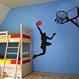 Basketball Player Dunk Ball Michael Jordan - Wall Decal Vinyl Sticker Kid's Bedroom D¨¦cor