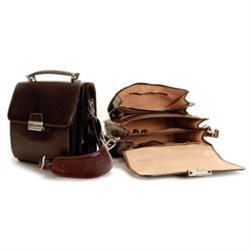 Tony Perotti Personalized Leather Carry All Bag - Flap-Over