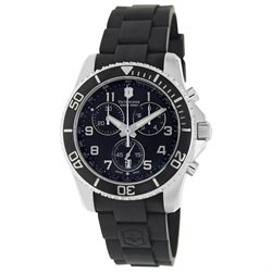 Victorinox Swiss Army Mens Maverick GS Stainless Watch - Black Rubber Strap - Black Dial - 241431