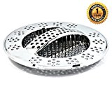 Hydroswift Fast Draining Kitchen Sink Strainer - Replaces Sink Basket, Sink Strainer Basket, Food Cover Mesh. Saves On Waste Management. Protects Garbage Disposal. Block Food Particles & Promote Flow