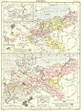 KINGDOM OF PRUSSIA:1786 & 1886;Mark Brandenburg ;Neuchatel;Hohenzollern;1898 map